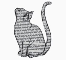 Newspaper Writing Cat by decentart