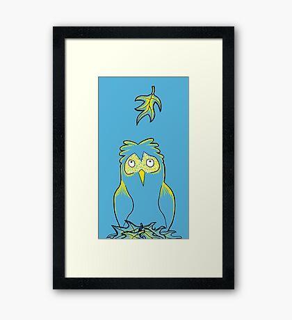 Silly Owl Framed Print