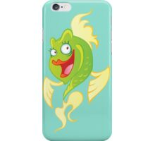 Smiling cartoon fish iPhone Case/Skin