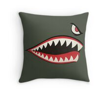 Flying Tigers Nose Art Throw Pillow