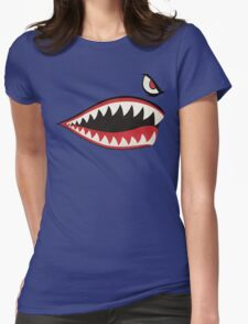 Flying Tigers Nose Art Womens Fitted T-Shirt