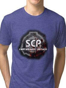 SCP Containment Breach Logo Tri-blend T-Shirt