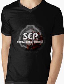 SCP Containment Breach Logo Mens V-Neck T-Shirt