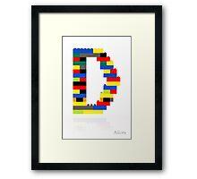 """""""D"""" Framed Print"""