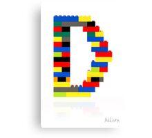 """D"" Canvas Print"