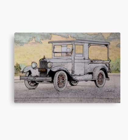 1928 Chevrolet 'Produce' Delievery Truck Canvas Print