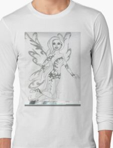 Ornate Baroque Fairy Long Sleeve T-Shirt