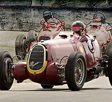 1935 Alfa Romeo Vintage Racecar by DaveKoontz