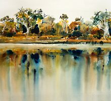 Murray River reflections 4 by Oliver Koehn