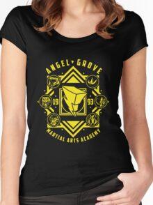 Angel Grove Martial Arts Academy MMPR Power Rangers Women's Fitted Scoop T-Shirt