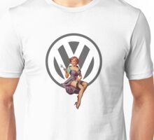 Volkswagen Pin-Up Wrenching Wanda (gray) Unisex T-Shirt