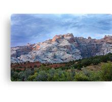 Last Glow on Split Mountain Canvas Print