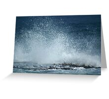 Wave caught in a nano second Greeting Card