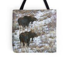 Double Bull Moose Tote Bag