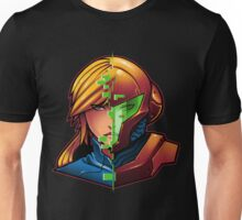 Samus Aran Metroid Zero Suit Face Split Unisex T-Shirt