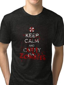 Keep Calm and Kill Zombies Resident Evil  Tri-blend T-Shirt
