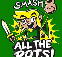 Smash Pots Zelda Link by pierceistruth