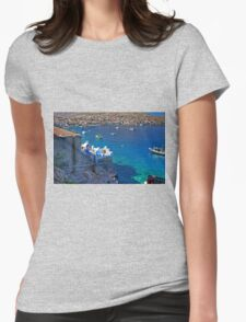 Reading in the shade Womens Fitted T-Shirt