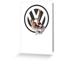 Volkswagen Pin-Up Chatty Cathy (gray) Greeting Card