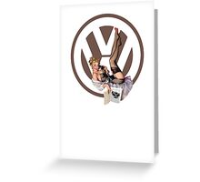 Volkswagen Pin-Up Chatty Cathy (brown) Greeting Card
