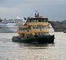 Fishburn approaching Circular Quay by Yvonne Kirk