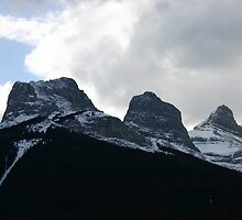 Three Sisters Mountain Range by Alyce Taylor