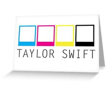 Taylor Swift Neon Polaroids Greeting Card