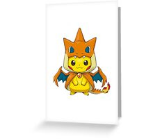 Mega Charizard Pikachu Y Greeting Card