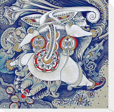 Flying Elephant by Yuliya Art