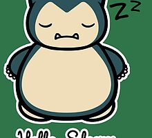Snorlax Hello Kitty Hello Sleepy by pierceistruth