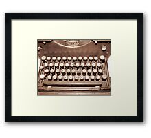 What? No Delete Button? Framed Print