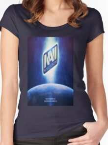 Navi  Women's Fitted Scoop T-Shirt