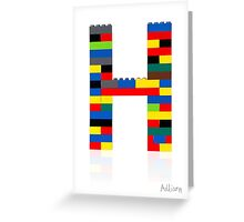 """H"" Greeting Card"