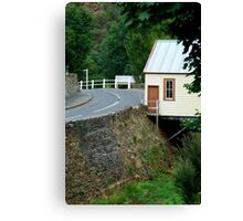 Walhalla Fire Station,over Stringers Creek Canvas Print