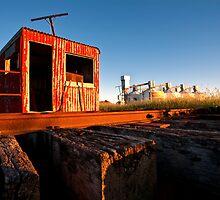 Train Turn Around and Silos by Bill  Robinson