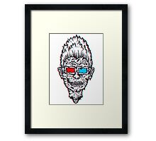 EVEN ZOMBIES ATE IN 3D! Framed Print