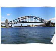 Sydney Harbour Bridge and the Stad Amsterdam Poster