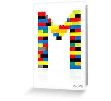 """M"" Greeting Card"