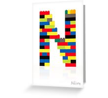 """N"" Greeting Card"
