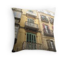 Windows of Malaga Throw Pillow
