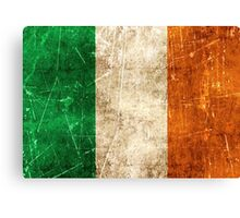 Vintage Aged and Scratched Irish Flag Canvas Print