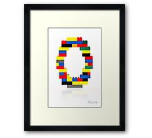 """""""O"""" Framed Print"""