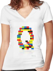 """""""Q"""" Women's Fitted V-Neck T-Shirt"""