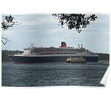 Queen Mary 2 Arrives Sydney 001 Poster