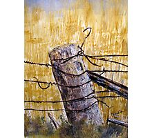 A lonely fence in Australia Photographic Print