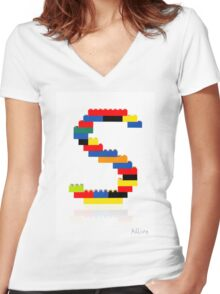 """""""S"""" Women's Fitted V-Neck T-Shirt"""
