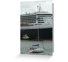 Queen Mary 2 Arrives Sydney 005 Greeting Card
