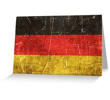 Vintage Aged and Scratched German Flag Greeting Card