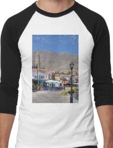 Towering over the Village Men's Baseball ¾ T-Shirt