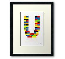 """U"" Framed Print"